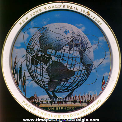 1964 -1965 New York World's Fair Advertising Souvenir Tin Tray