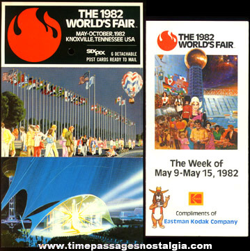 (16) 1982 Knoxville, Tennessee World's Fair Paper Souvenir Items