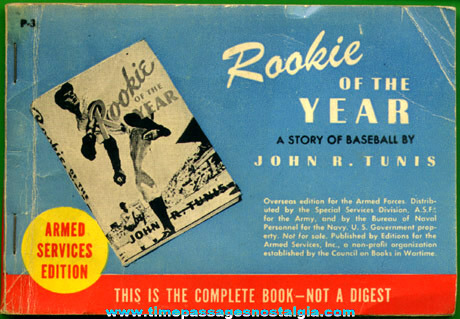"""©1944 Armed Forces Edition Book: """"ROOKIE OF THE YEAR"""""""