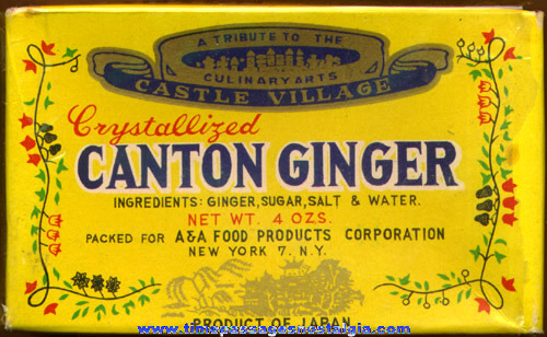 Scarce Old Unopened Box Of CASTLE VILLAGE CANTON GINGER Candy