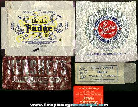 (5) Old Candy / Candy Bar Wrappers
