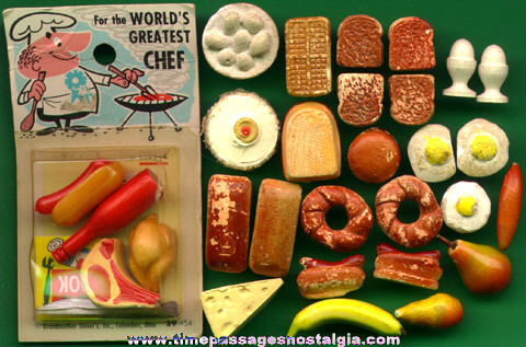 (31) Old Doll House Miniature Food Items