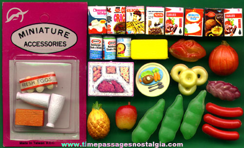 (30) Old Doll House Miniature Food Items