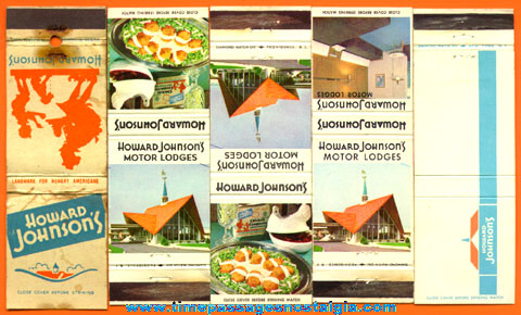 (9) Old HOWARD JOHNSON'S Restaurant Advertising Items