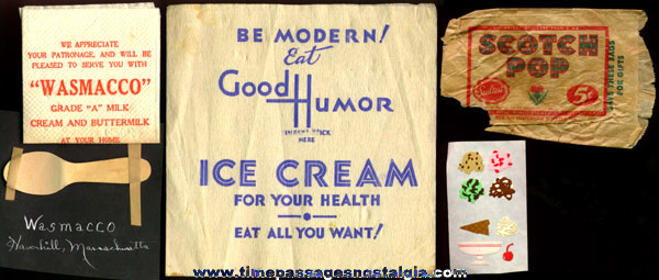 (11) Old Ice Cream Related Items