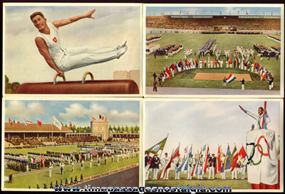 1936 Packet Of German Olympic Cigarette Photograph Cards