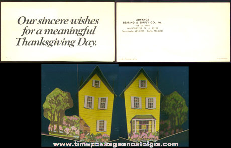 1971 POP UP Advertising Greeting Card