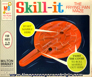 ©1966 Boxed Milton Bradley Marble SKILL-IT Frying Pan Maze Puzzle