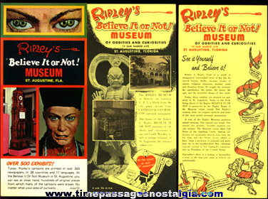 (8) items from: RIPLEY'S BELIEVE IT OR NOT