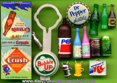 (15) Small Soda Advertising Premiums and/or Miniatures
