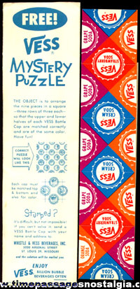 Old Unused VESS Soda Advertising Premium Puzzle