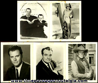 (5) Different Celebrity Publicity or Promotional Photographs