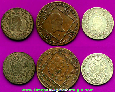 (3) 18th & Early 19th Century AUSTRIAN Coins