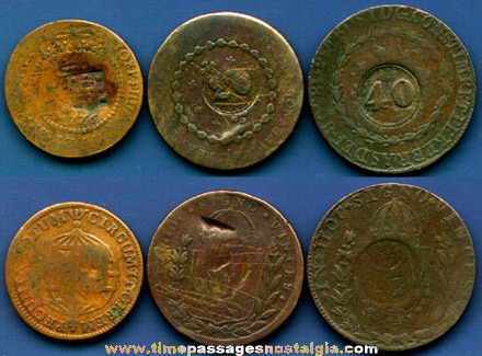 (3) 18th & Early 19th Century BRAZILIAN Coins