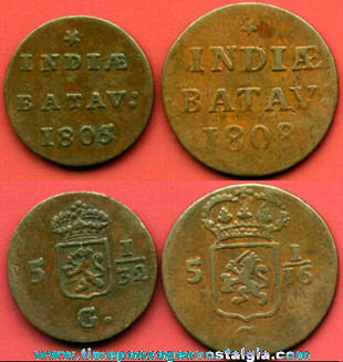 (2) Early 19th Century Indonesian Coins