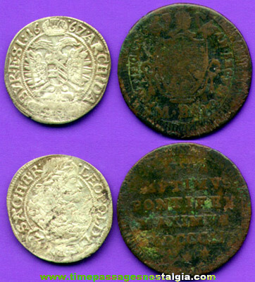 (2) Old Holy Roman Empire & Papal States Vatican Coins
