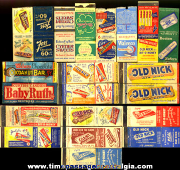 (21) Old Candy Advertising Match Pack Covers