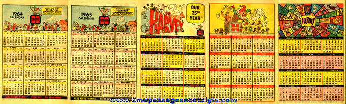 (5) Different Old HARVEY Comic / Cartoons Calendars