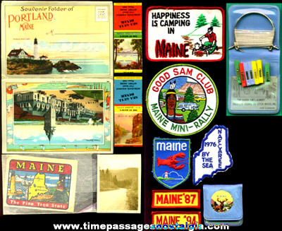 (12) Small MAINE Advertising or Souvenir Items