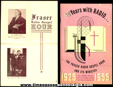 (6) Old Fraser Radio Gospel Hour Paper Items