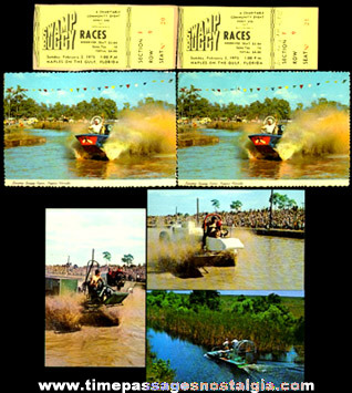 (7) Naples, Florida Swamp Buggy Racing Items