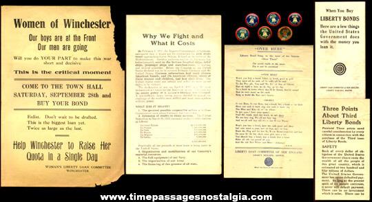 (11) World War I Homefront Items