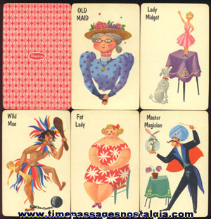 (2) Different OLD MAID Card Games