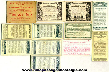 (12) Different Old Cigarette Or Tobacco Advertising Trading Cards
