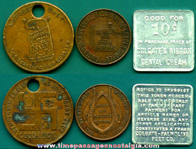 (3) Different Old Advertising Coins / Tokens