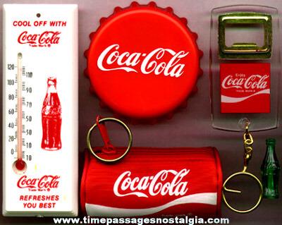 (5) Coca-Cola Advertising Premium Items