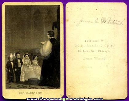 Old Midget Wedding Photo Card