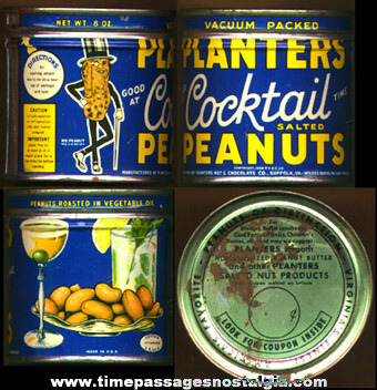 Old Planters Peanuts Advertising Tin