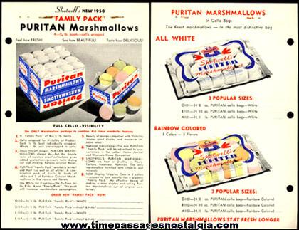 1950 Shotwell Marshmallow Advertising Order Form