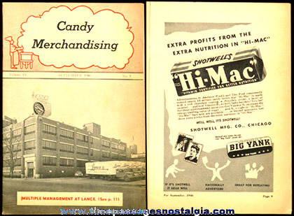 1946 Candy Merchandising Trade Magazine