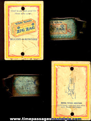 (2) Old ZIGZAG Confection Premium / Prize Advertsing Items