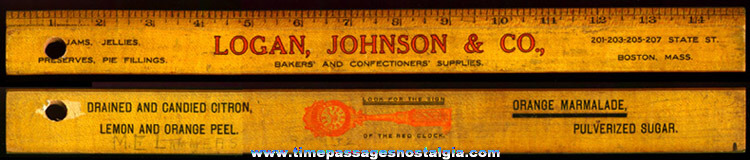 Old Baker & Confection Supply Company Advertising Premium Wooden Ruler