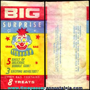 Old BIG SURPRISE Bubble Gum Advertising Bag