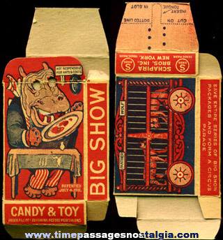Old Mechanical BIG SHOW Candy Advertising Box