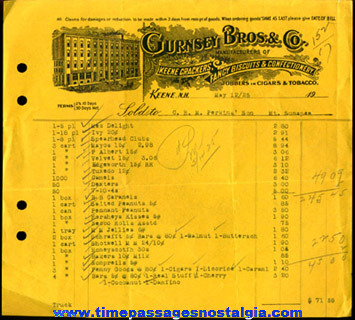(3) 1900's - 1920's Confectionary Company Invoices