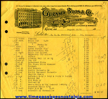 (3) 1925 Confectionary Company Advertising Invoices