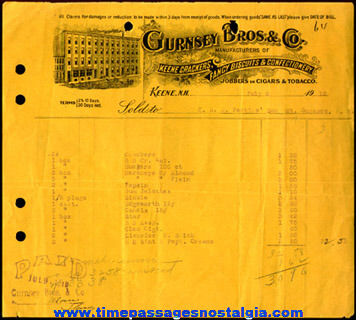(3) 1917 - 1918 Confectionary Company Advertising Invoices