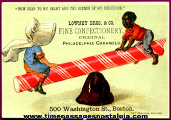 Rare Old Lowney's Confections Advertising Trade Card