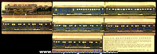 (7) Different Old Lowney's Candy Advertising Premium Train Trading Cards