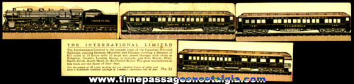 (5) Old Lowney's Candy Advertising Premium Train Trading Cards