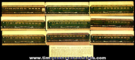 (10) Old Lowney's Candy Advertising Premium Train Trading Cards