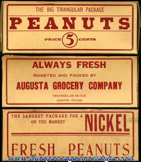 Old Unused AUGUSTA GROCERY COMPANY PEANUTS Box