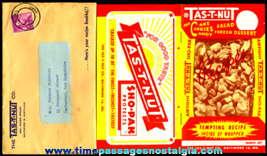 1950's TAS-T-NUT Advertising Premium Recipe Booklet With Mailer