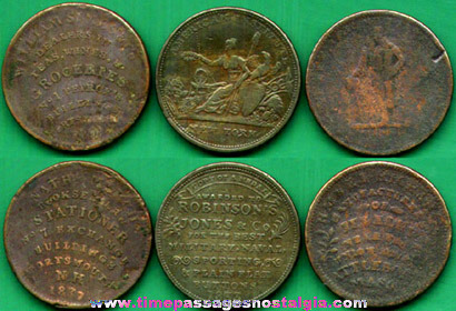 (3) Different 1800's United States Hard Times Tokens