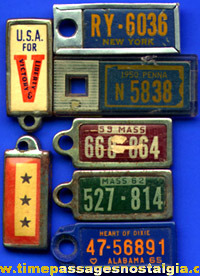 (7) Old Disabled American Veterans License Plate Charms