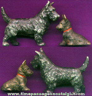 (2) Old Scottish Terrier / Scottie Dog Figures